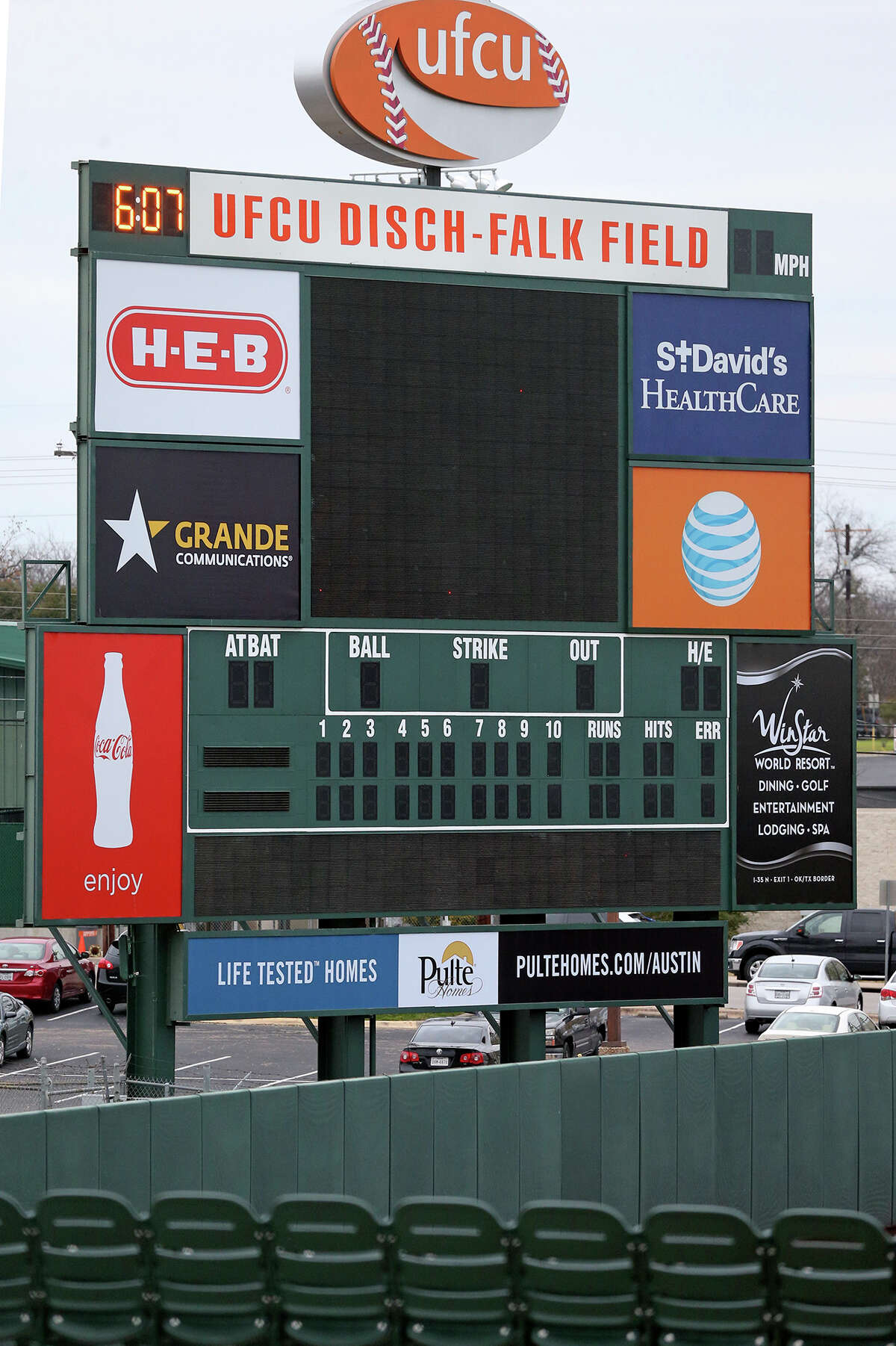 University Federal Credit Union paid for naming rights to Disch-Falk Field.