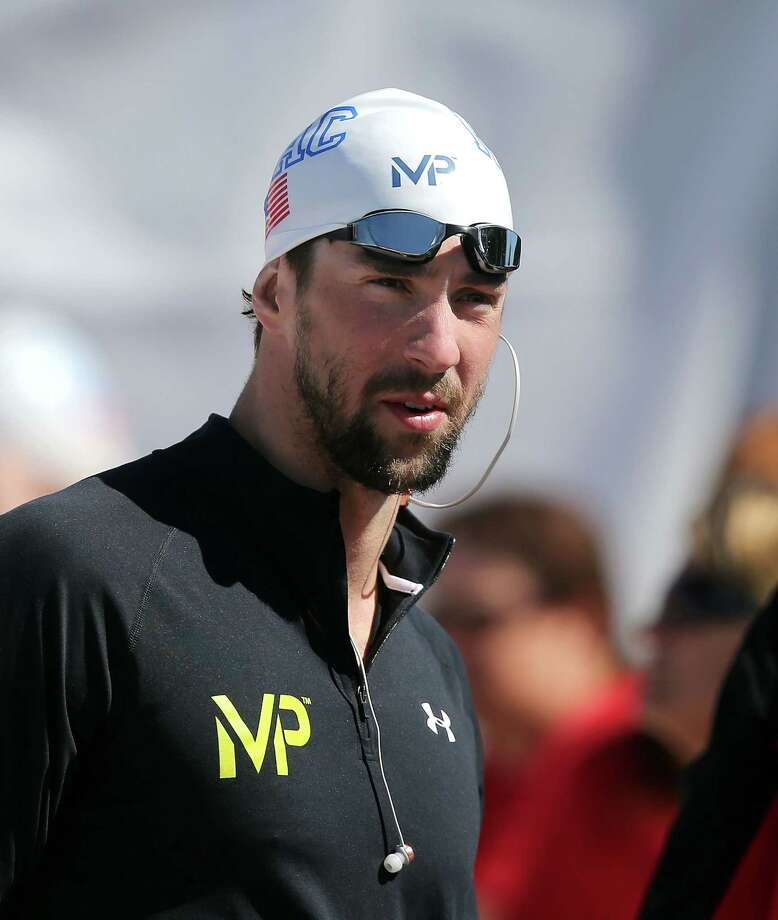 MESA, AZ - APRIL 18:  Michael Phelps waits to compete in the 200m Individual Medley Prelims during day four of the Arena Pro Swim Series at the Skyline Aquatic Center on April 18, 2015 in Mesa, Arizona.  (Photo by Chris Coduto/Getty Images) ORG XMIT: 537309131 Photo: Chris Coduto / 2015 Getty Images