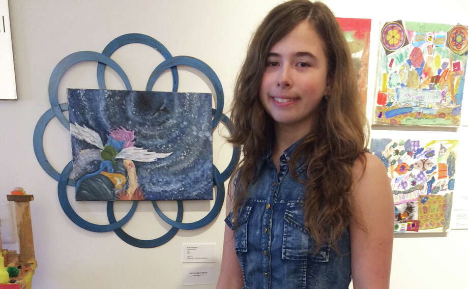 New Canaan teenager Ann Pakhayev, above, won first place in the youth category at Silvermine Art Center's 25th annual Student Show. Photo: Contributed Photo / New Canaan News