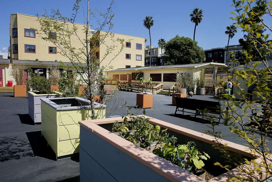 The navigation center now has a series of planter boxes and murals throughout the facility. The San Francisco, Calif. homeless navigation center is now in operation in the Mission district where they hope to move entire encampments into the facility and help the people find housing and other supportive programs. Photo: Brant Ward, The Chronicle