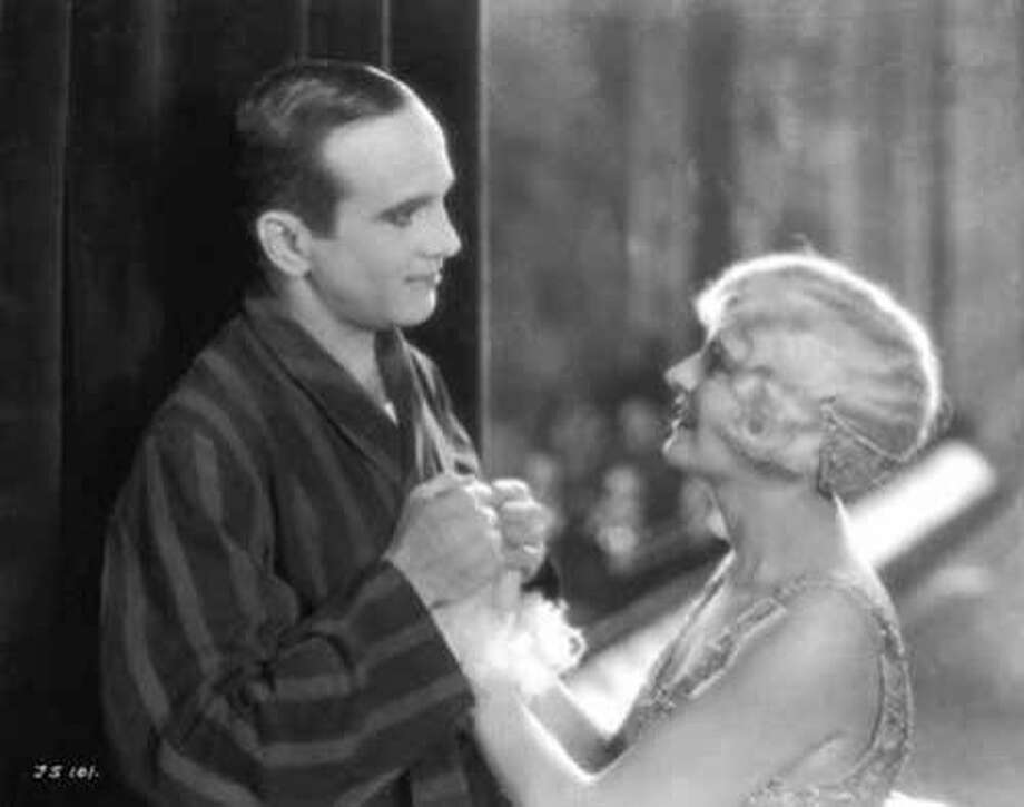 """A Vitaphone recorded sound for """"The Jazz Singer"""" with Al Jolson and May McAvoy. Photo: Warner Bros."""