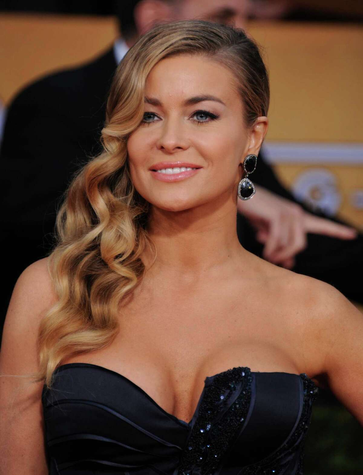 Carmen Electra arrives at the 19th Annual Screen Actors Guild Awards at the Shrine Auditorium in Los Angeles on Sunday, Jan. 27, 2013. (Photo by Jordan Strauss/Invision/AP)