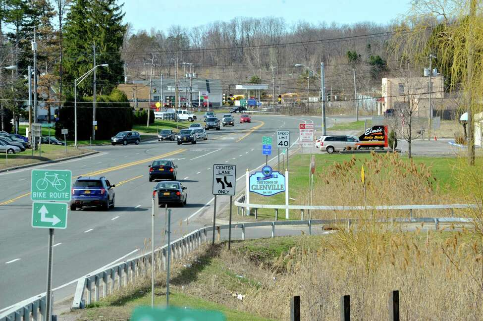 A view looking north along Freemans Bridge Road just north of the Mohawk River on Sunday, April 19, 2015, in Glenville, N.Y. (Paul Buckowski / Times Union)