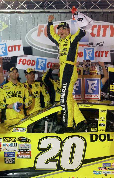It took more than nine hours and required racing 11 laps beyond the scheduled 200 before Matt Kenseth arrived in Victory Lane on Sunday, breaking a 51-race winless streak. Photo: Wade Payne, FRE / FR23601 AP