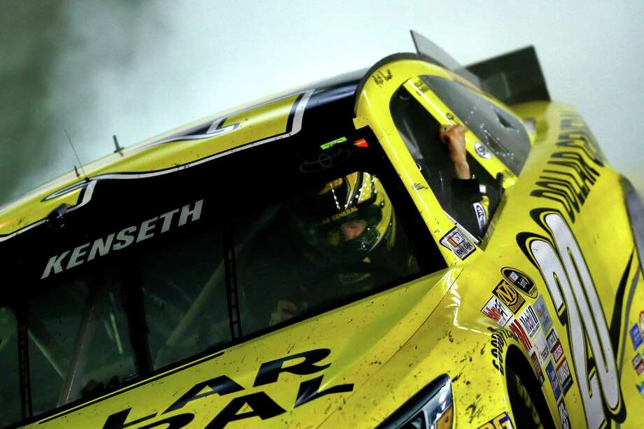 BRISTOL, TN - APRIL 19: Matt Kenseth, driver of the #20 Dollar General Toyota, celebrates with a burnout after winning the NASCAR Sprint Cup Series Food City 500 at Bristol Motor Speedway on April 19, 2015 in Bristol, Tennessee.  (Photo by Jeff Zelevansky/Getty Images) ORG XMIT: 548769577 Photo: Jeff Zelevansky / 2015 Getty Images