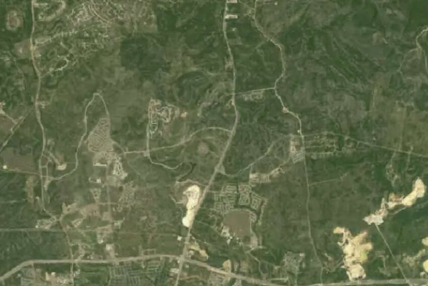 View of the Stone Oak area in 1994 from NASA Landsat images.
