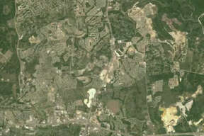 View of the Stone Oak area in 2008 from NASA Landsat images.