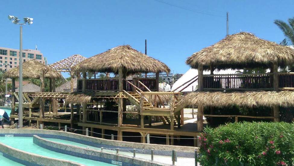 This multi-level cabana at Schlitterbahn in Galveston is the latest addition to the waterpark.