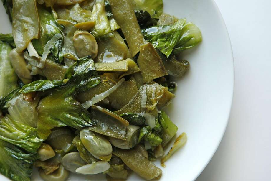 Braised favas with spring vegetables, Friday, April 17, 2015, in San Francisco, Calif. Photo: Santiago Mejia, The Chronicle