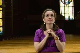 Mature woman at the church