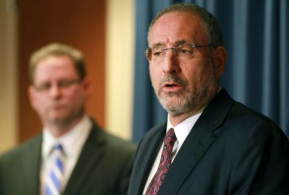 U.S. Attorney Andrew Luger charged the men with conspiracy to support a terrorist organization. Photo: Andy King, Associated Press