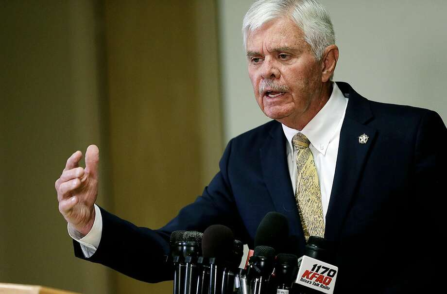FILE - Sheriff Stanley Glanz speaks during a news conference about the reserve deputy Robert Bates' shooting of Eric Harris on Monday, April 20, 2015. Photo: Mike Simons, Associated Press