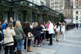 NEW YORK, NY - APRIL 16:  Shoppers attend the Lilly Pulitzer For Target Pop-up Shop Activation at Bryant Park Grill on April 16, 2015 in New York City.