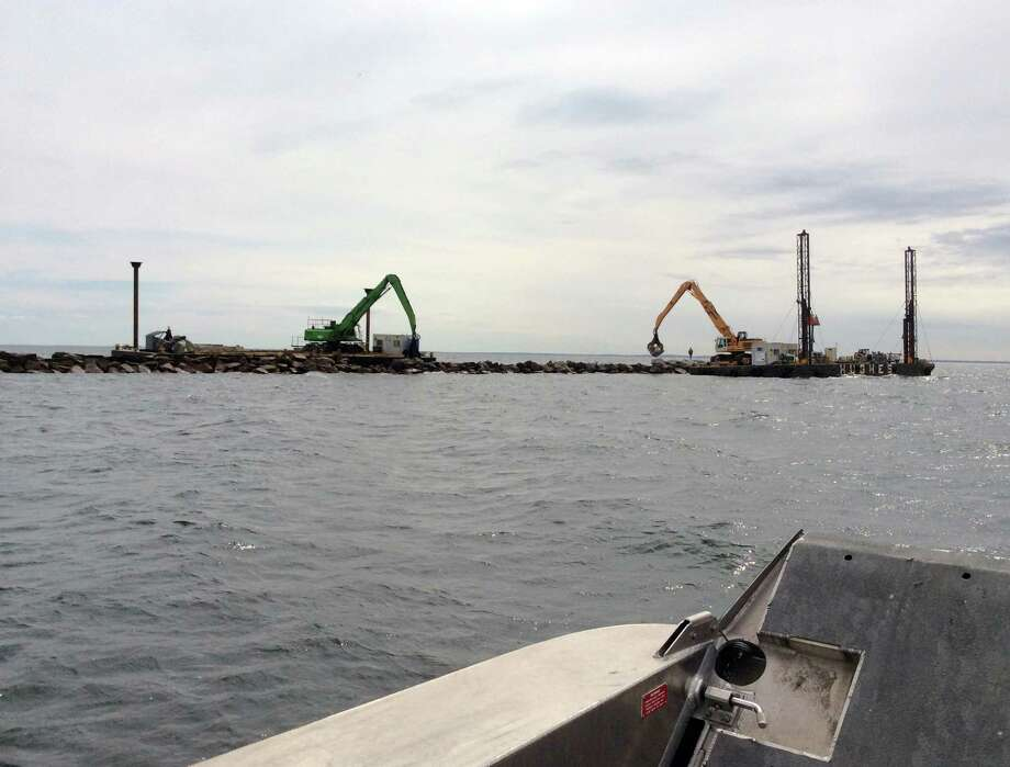 The U.S. Army Corps of Engineers has provided $2 million to repair the breakwaters off of Pleasure Beach in Bridgeport, Conn. Photo: Contributed Photo / Connecticut Post Contributed