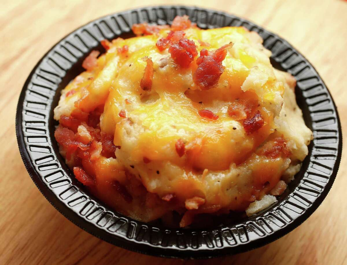 The loaded mashed potato side at Roegels Barbecue Co. on Voss.