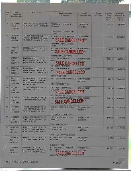 Texas Delinquent Property Tax Sales