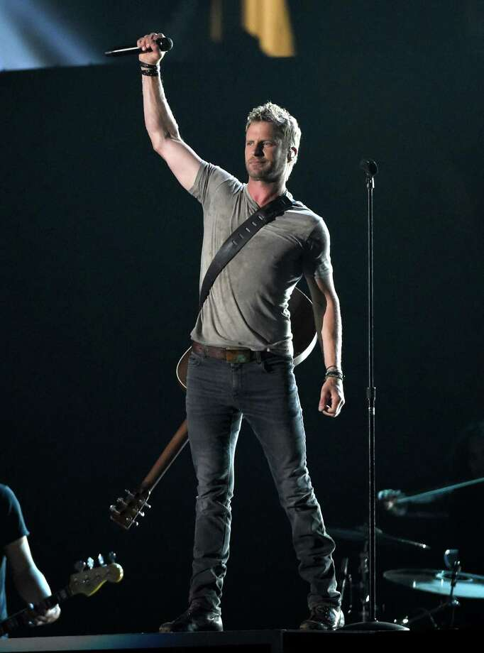 Dierks Bentley performs at the 50th annual Academy of Country Music Awards at AT&T Stadium on Sunday, April 19, 2015, in Arlington, Texas. (Photo by Chris Pizzello/Invision/AP) ORG XMIT: TXBR212 Photo: Chris Pizzello, AP / Invision