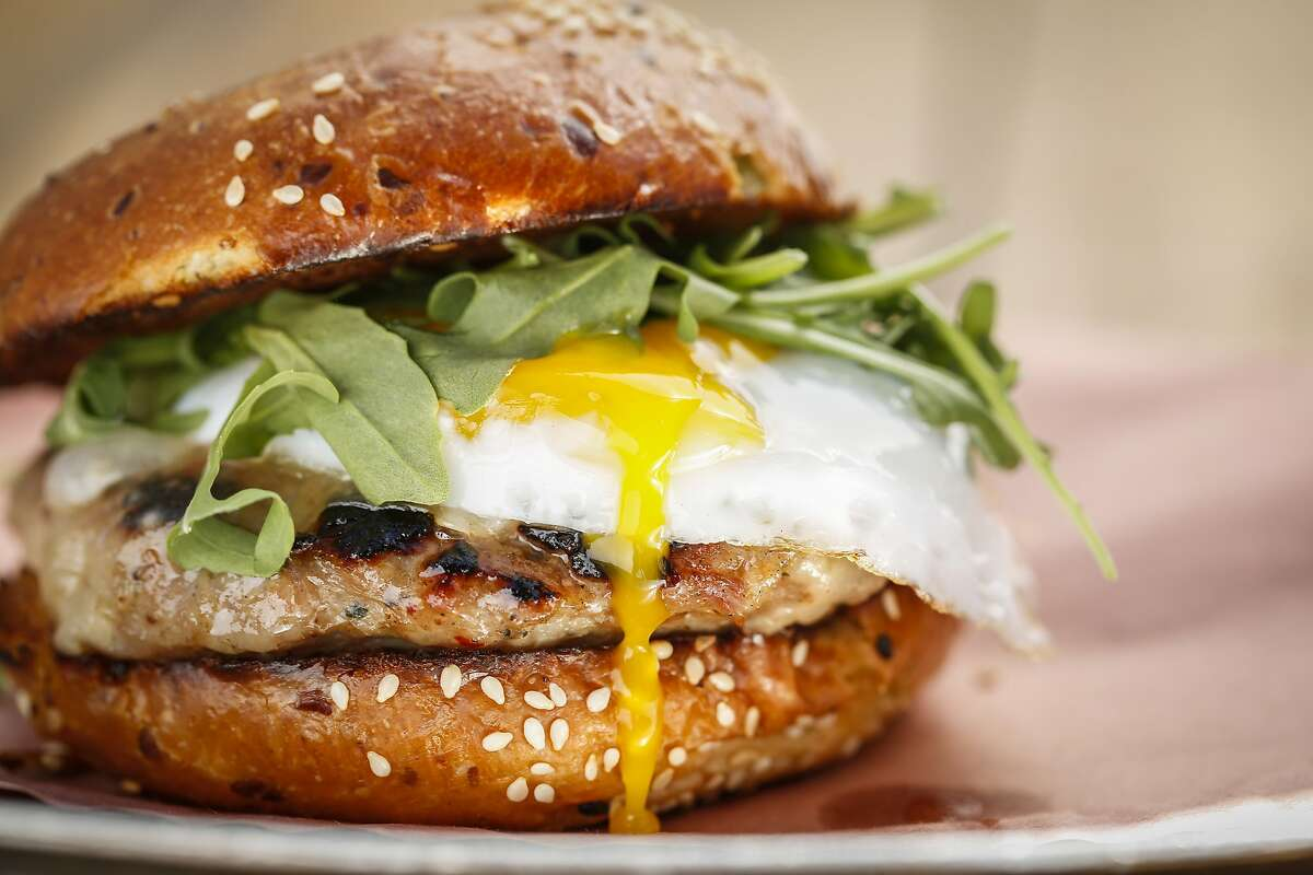The Sausage and Egg Sandwich at 4505 Burgers and BBQ is seen on Thursday, April 16, 2015 in San Francisco, Calif.