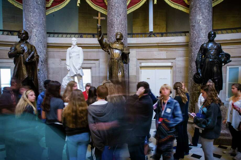 Some American Indians want the statue of Junipero Serra removed from the Capitol in Washington. Photo: ZACH GIBSON / New York Times / NYTNS