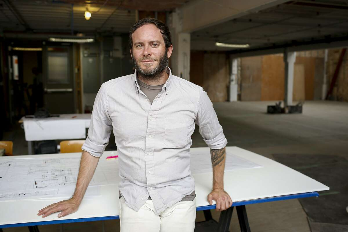 Chad Robertson of Tartine Bakery and Cafe is seen in their new space in the Heath Ceramics building on Friday, Sept. 19, 2014 in San Francisco, Calif. Robertson hopes to open the space which will include a bakery, cafe and ice cream shop early next year.