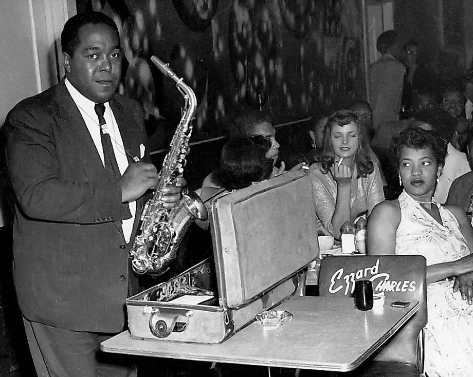 Charlie Parker at Jimbo's Bop City in the Fillmore during the 1950s. Photo: Steve Jackson Jr., Courtesy Of The Authors