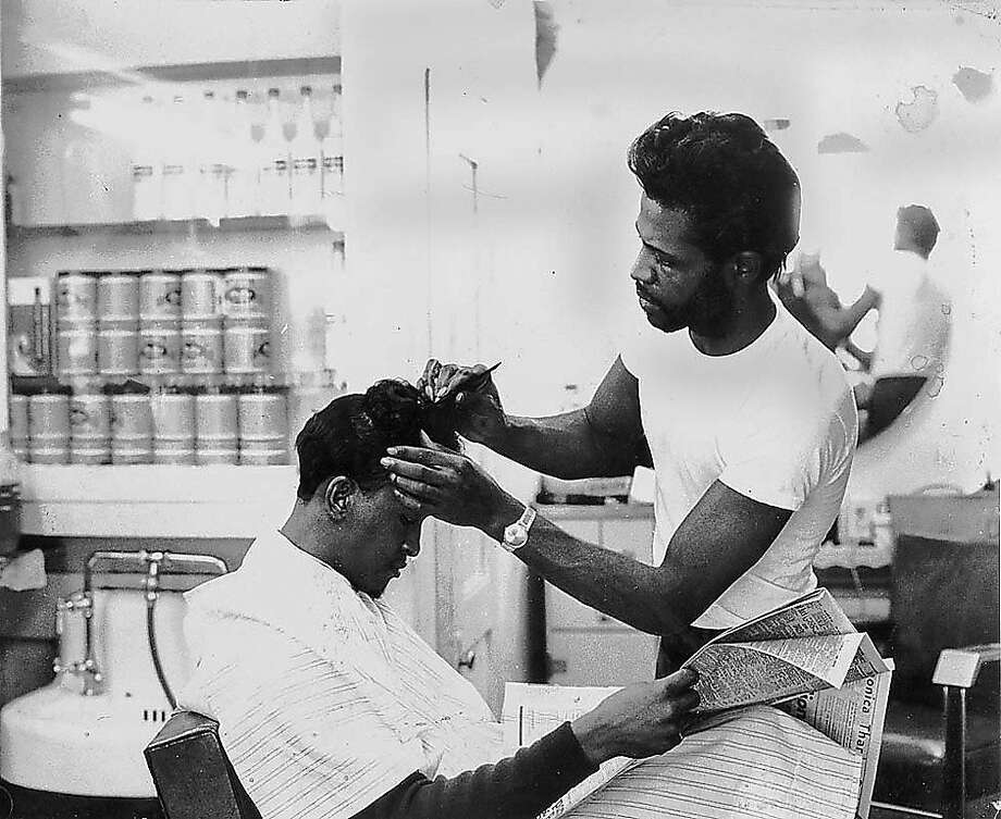 A barbershop in the Fillmore. Photo: Reggie Pettus, Red Powell Collec, Courtesy Of The Authors