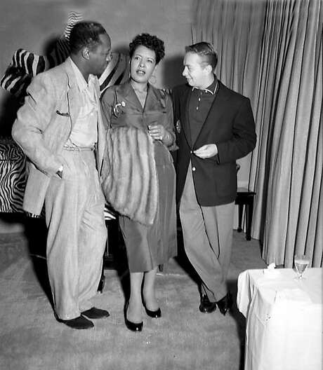 Billie Holiday and Mel Torme in the Fillmore during the 1950s. Photo: Steve Jackson, Jr., Courtesy Of The Authors