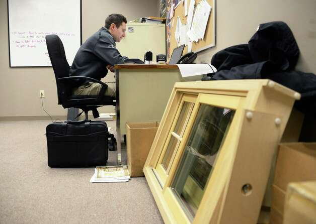 Huff n' Puff product manager Scott Basiuk in his office oat their Rotterdam Industrial Park facility Wednesday March 25, 2015 in Rotterdam, NY.  (John Carl D'Annibale / Times Union) Photo: John Carl D'Annibale / 00031148A