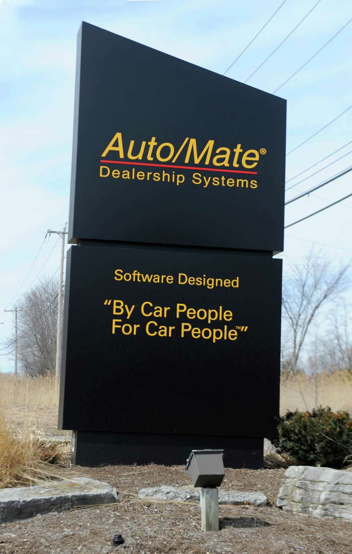 Sign in front of top work place Auto/Mate on Tuesday, March 24, 2015 in Colonie, N.Y. (Lori Van Buren / Times Union)