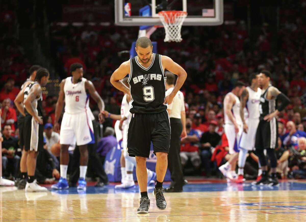 Spurs point guard Tony Parker seems appropriately downcast in Game 1 of the Western Conference quarterfinals against the Los Angeles Clippers. A reader wonders if the hotel accommodations of the San Antonio team had anything to do with its poor performance.