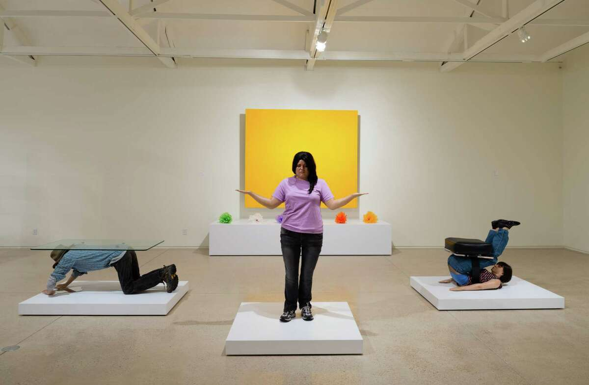 """Diaz's """"Muebles,"""" or furniture pieces, co-opt 60s Pop art and comment on the plight of immigrants in the United States."""