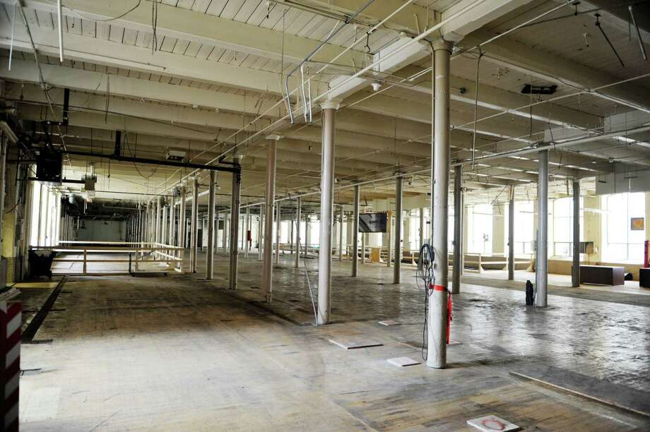 A view inside one of the floors in the former Albany International building on Monday, April 20, 2015, in Menands, N.Y.  A groundbreaking ceremony was held at the building on Monday for what will become The Lofts at Albany International. (Paul Buckowski / Times Union) Photo: PAUL BUCKOWSKI / 00031460A