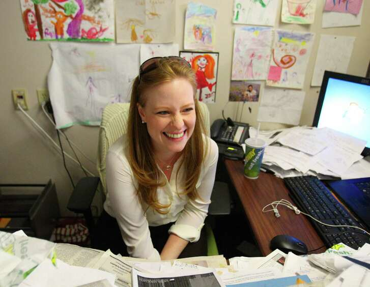 Lisa Falkenberg, who has been a Chronicle columnist for eight years, was named winner of the 2015 Pulitzer Prize for Commentary.  (Billy Smith II / Houston Chronicle)