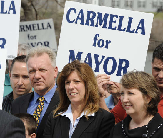 Carmella Mantello kicks off her Troy, N.Y. mayoral campaign in 2011. Mantello is weighing another run. (Skip Dickstein / Times Union) ORG XMIT: MER2015030913174836 Photo: Skip Dickstein / 00012704A