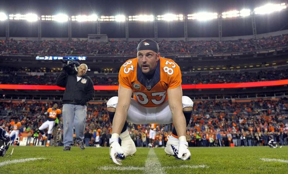 #50: Wes WelkerDenver Broncos Photo: Jack Dempsey, Associated Press