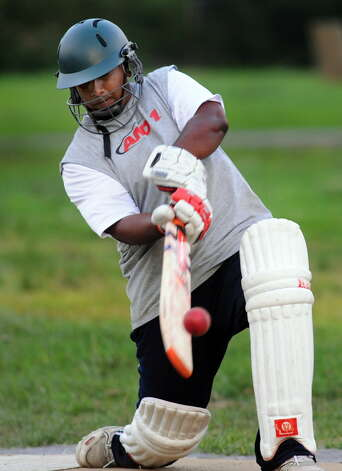 Tri-City Cricket Club player Matt Persaud bats during practice on Thursday, Aug. 9, 2012, at Grout Park in Schenectady, N.Y. (Cindy Schultz / Times Union archive) Photo: Cindy Schultz / 00018787A