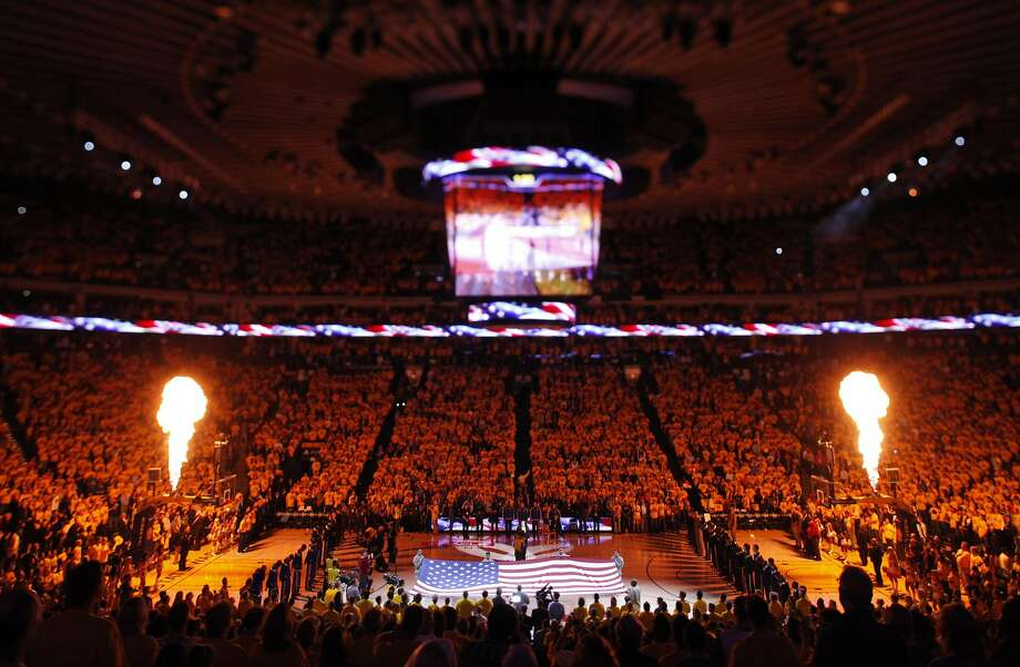 There may be plenty of pregame pyrotechnics (like these during Game 2 of the opening round) in the second round of the NBA playoffs, but viewers are going to have to pay attention to know where to watch the games. Photo: Carlos Avila Gonzalez, The Chronicle