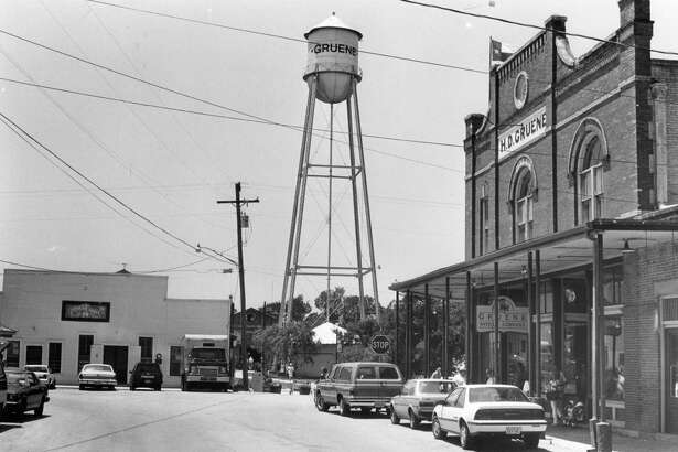 Downtown Gruene photographed on May 9, 1989.