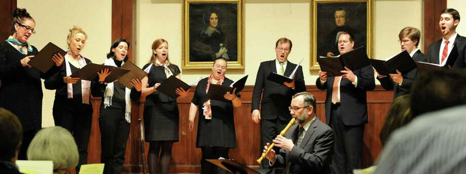 The Music on the Hill Chamber Chorus will perform musical interpretations of Shakespeare's works May 1 at the Pequot Library. Photo: Contributed Photo / Fairfield Citizen