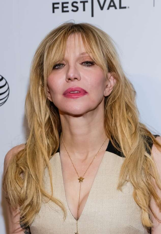 Courtney Love arrives for the New York Premiere Documentary : 'Kurt Cobain : Montage of Heck' held at Spring Studios on April 19, 2015 in New York City. (Photo by Brent N. Clarke/FilmMagic)