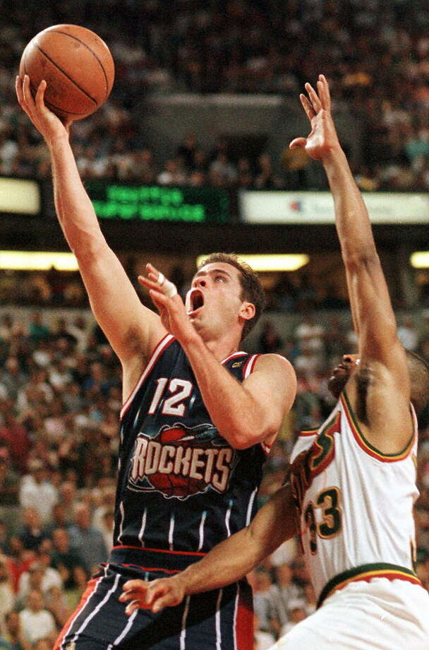 The unheralded Matt Maloney scored a game-high 26 points to help the Rockets take a 3-1 series lead over the Seattle SuperSonics in their May 1997 second-round series. (ROBERT SULLIVAN/AFP/Getty Images) Photo: ROBERT SULLIVAN, Associated Press / AFP