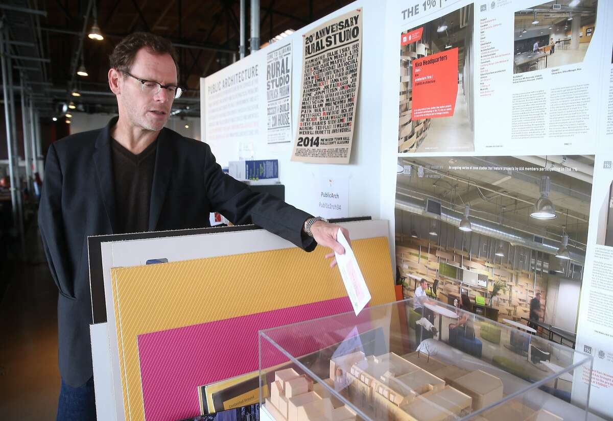 John Peterson, founder and president of Public Architecture, is seen in the non-profit's office space in San Francisco, Calif. on Tuesday, April 21, 2015.