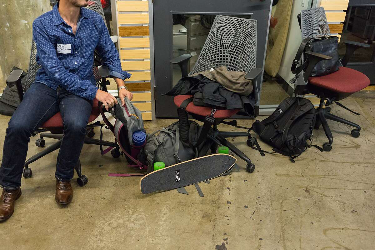 A skateboard brought by one of the attendees to The Future Forum presented by HIVE at the Impact HUB in San Francisco, Calif., Monday, April 20, 2015. US Representatives Pete Aguilar, Eric Swalwell, Derek Kilmer and Ruben Gallego spoke to young entrepreneurs about their concerns as part of Rep. Swalwell's talking tour in cities across the nation.