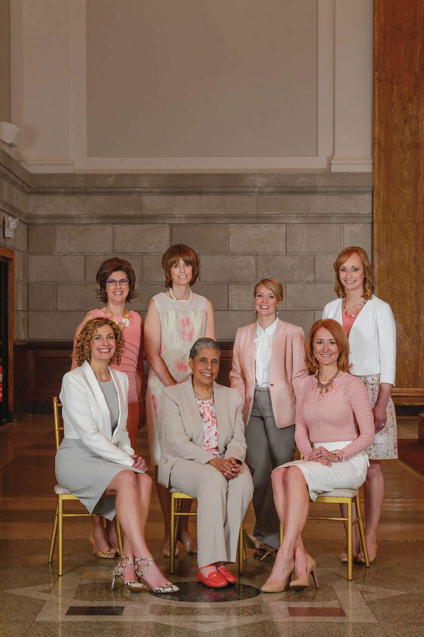 2015 Women of Excellencefrom left to right : Denise Gonick, Trudy Hall, Miriam Dushane, Kelsey Carr, Laura Petrovic, Barbara Smith, Andrea Crisafulli Russo