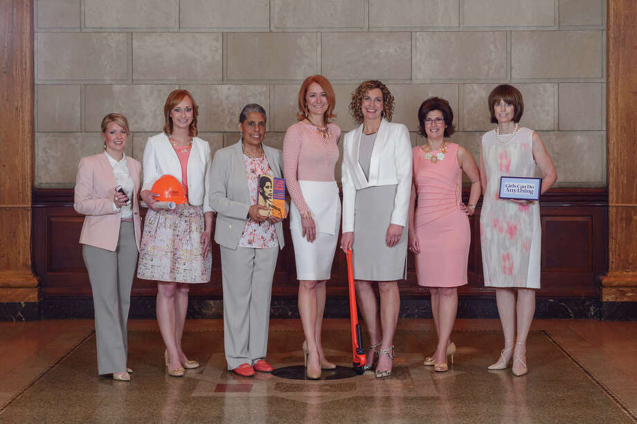 2015 Women of Excellencefrom left to right: Miriam Dushane, Kelsey Carr, Barbara Smith, Laura Petrovic, Andrea Crisafulli Russo, Denise Gonick, Trudy Hall Photo: TRINACRIA PHOTO, Vincent Giordano / Women@Work / 2014
