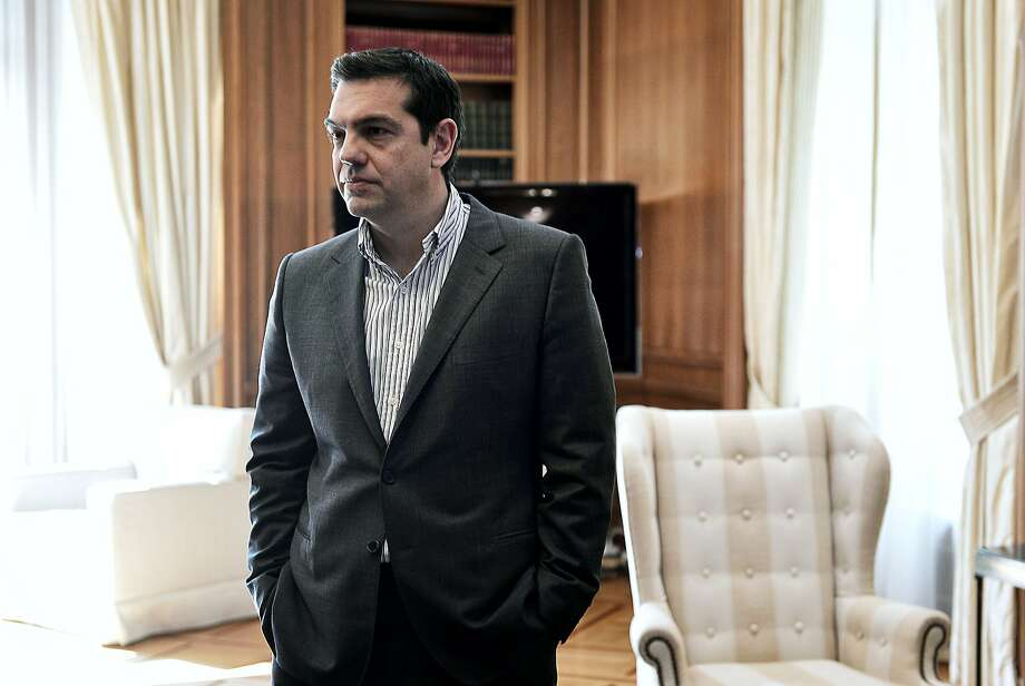 Greek Prime Minister Alexis Tsipras waits to meet with the CEO of Russian gas giant Gazprom in Athens. Photo: Louisa Gouliamaki, AFP / Getty Images