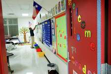 Norvis Boodram prepared his classroom at Thurgood Marshall Elementary, a North Forest ISD school absorbed by HISD.