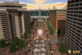 Market Street will be shut down east of Beale Street for Super Bowl City.