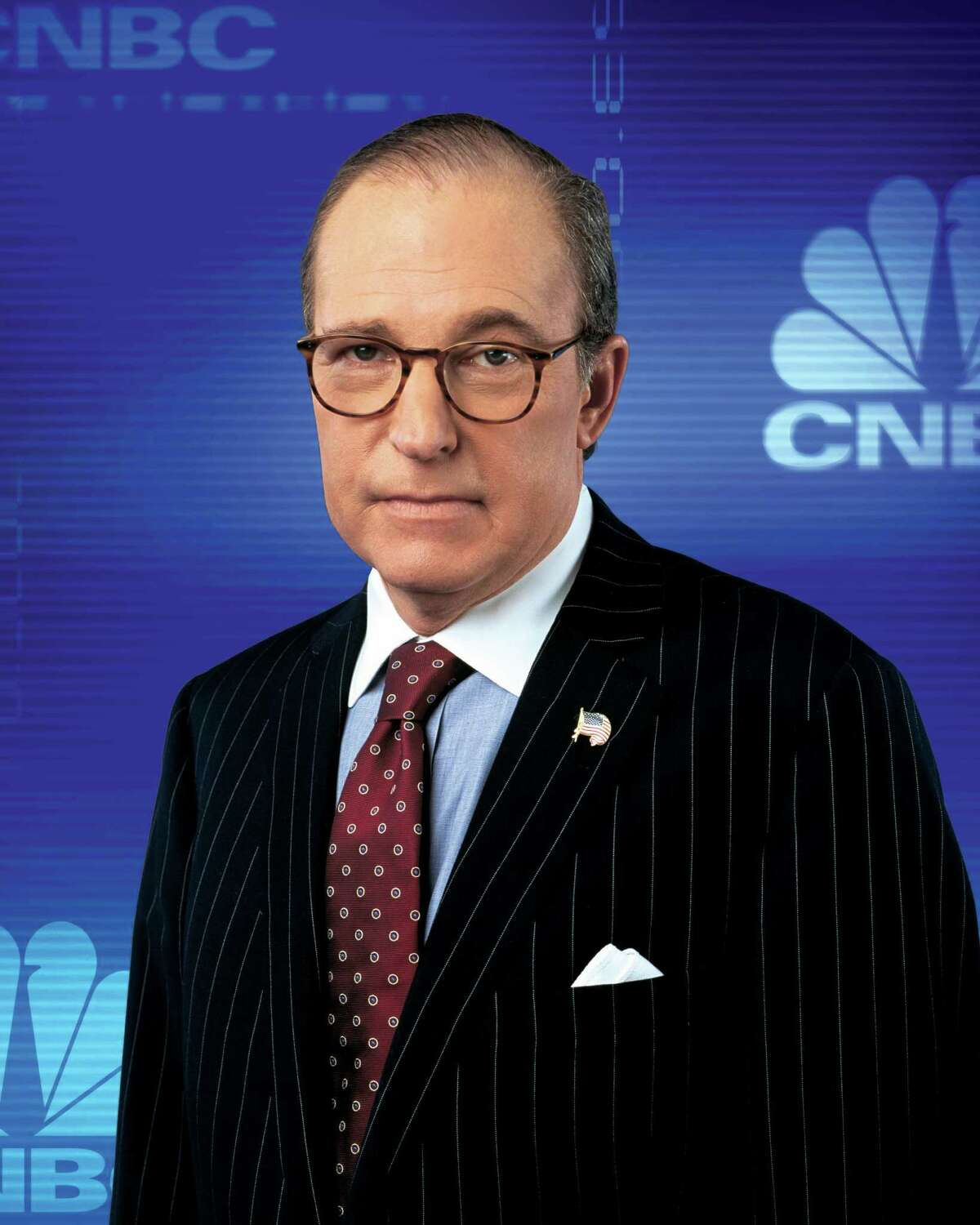 Longtime economics and political commentator Larry Kudlow spoke at the Trinity University Policy Maker Breakfast series event Tuesday.