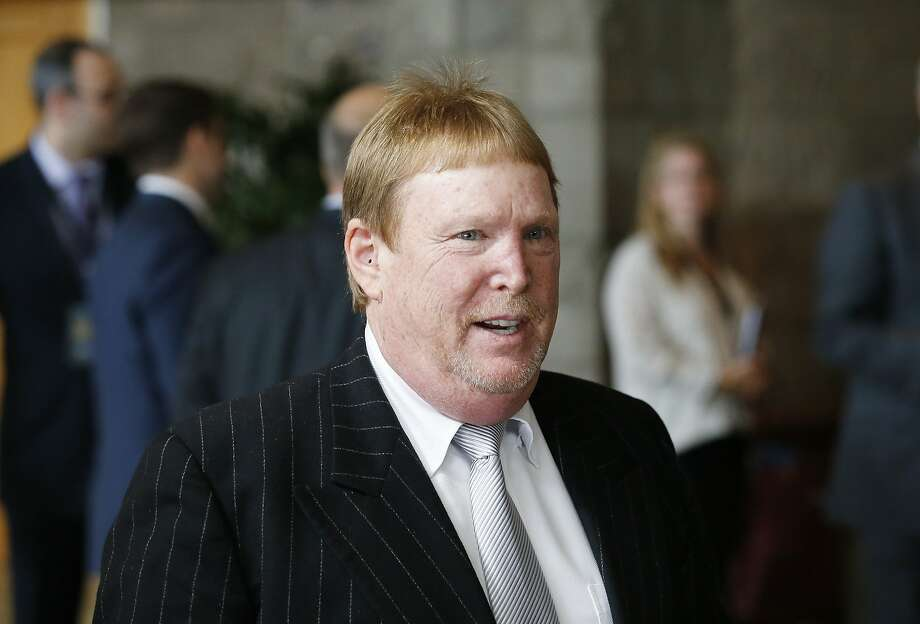 Oakland Raiders owner Mark Davis arrives to attend a general session at the NFL Annual Meeting in Phoenix in March 2015. Photo: Ross D. Franklin, Associated Press